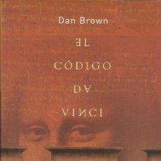 Libros: EL CÓDIGO DA VINCI / DAN BROWN. Lote 270587438