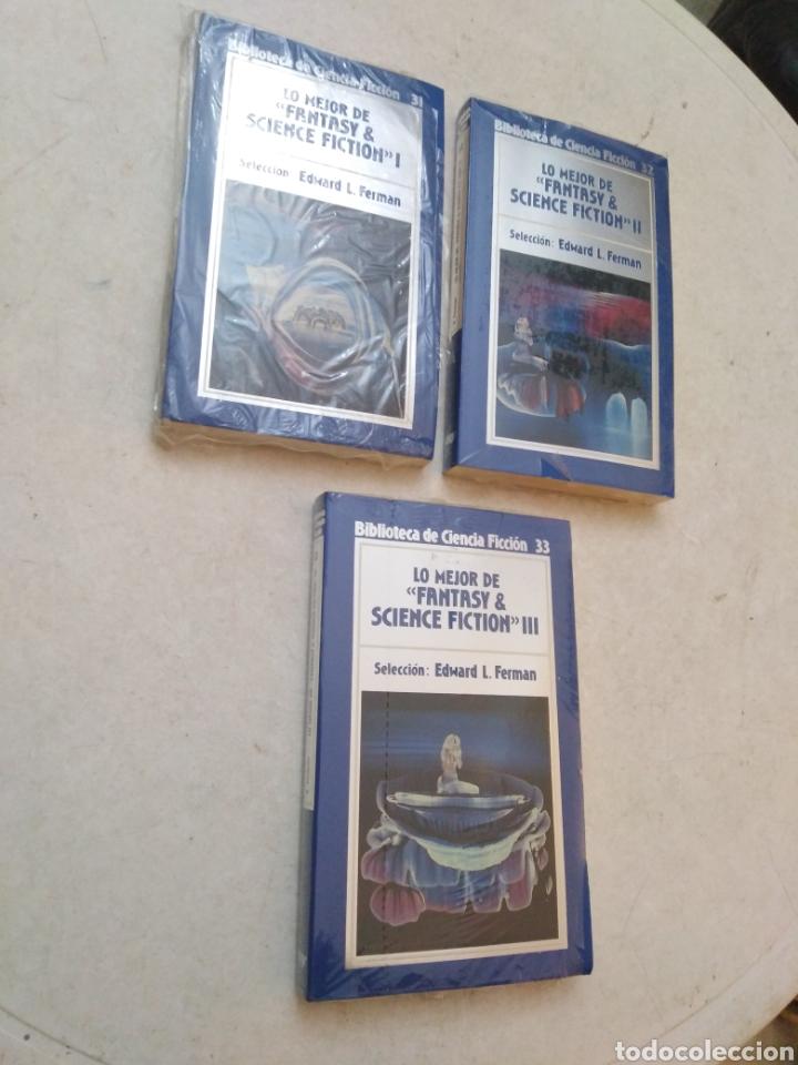 LOTE DE 3 LIBROS LO MEJOR DE FANTASY & SCIENCE FICTION ( I, II Y III ) NUEVOS PLASTIFICADOS (Libros Nuevos - Literatura - Narrativa - Ciencia Ficción y Fantasía)
