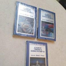 Libros: LOTE DE 3 LIBROS LO MEJOR DE FANTASY & SCIENCE FICTION ( I, II Y III ) NUEVOS PLASTIFICADOS. Lote 272146003