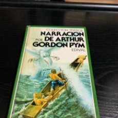 Libros: NARRACIÓN DE ARTHUR GORDON PYM, DE EDGAR ALLAN POE. Lote 278499853