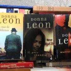 Libros: LOTE LIBROS DONNA LEON: UN MAR DE PROBLEMAS MIENTRAS DORMIAN EL PEOR REMEDIO. Lote 287363568