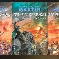 Libros: TORMENTA DE ESPADAS I II III CANCIÓN DE HIELO Y FUEGO GIGAMESH BOLSILLO. Lote 294387763
