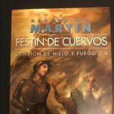 Libros: FESTÍN DE CUERVOS CANCIÓN DE HIELO Y FUEGO 4 GIGAMESH OMNIUS 2013. Lote 295040033