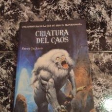 Libros: CRIATURA DEL CAOS , LIBRO JUEGO , TIMUN MAS. STEVE JACKSON.. Lote 295971678