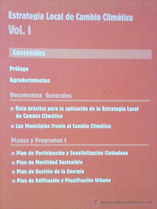 Libros: ESTRATEGIA LOCAL DE CAMBIO CLIMATICO - Foto 4 - 33352129