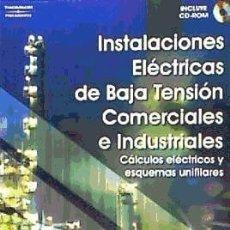 Libros: INSTALACIONES ELÉCTRICAS DE BAJA TENSIÓN COMERCIALES E INDUSTRIALES PARANINFO. Lote 95237630