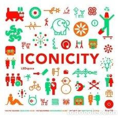 Libros: ICONICITY: PICTOGRAMS, IDEOGRAMS, SIGNS FOR UTILITY, USEFULNESS AND PLEASURE PROMOPRESS. Lote 103683050