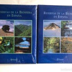 Libros: RESERVAS DE LA BIOESFERA EN ESPAÑA. 2 TOMOS. EDITORIAL PLANETA.. Lote 125409143