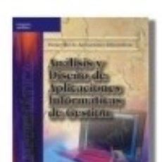 Libros: ANÁLISIS Y DISEÑO DETALLADO DE APLICACIONES INFORMÁTICAS DE GESTIÓN. Lote 67914814
