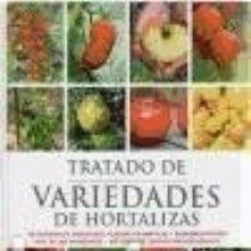 Libros: TRATADO DE VARIEDADES DE HORTALIZAS. Lote 106922223