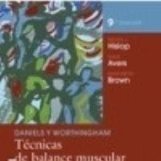 Libros: DANIELS Y WORTHINGHAM. : TÉCNICAS DE BALANCE MUSCULAR. TÉCNICAS DE EXPLORACIÓN MANUAL Y PRUEBAS. Lote 128227119