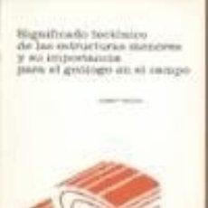 Libros: SIGNIFICADO TECTÓNICO DE LAS ESTRUCTURAS MENORES Y SU IMPORTANCIA PARA EL GEÓLOGO EN EL CAMPO. Lote 128227419