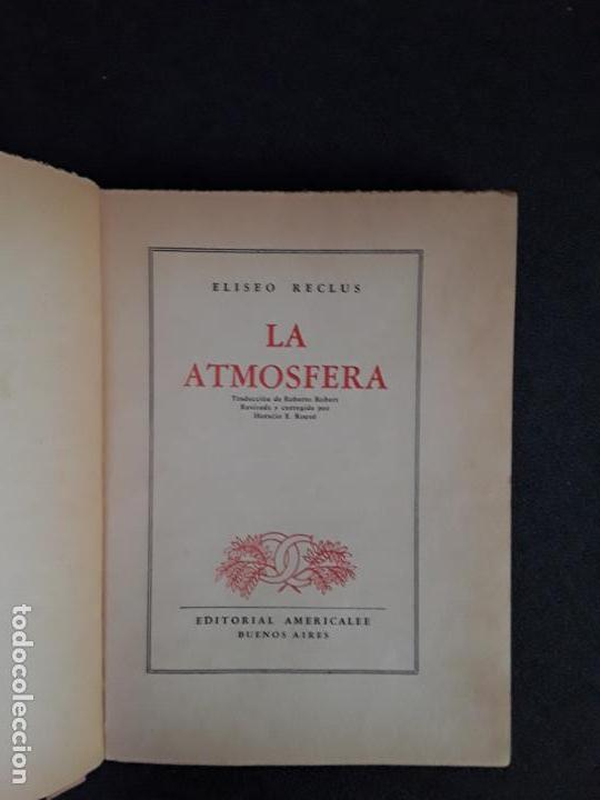 Libros: (Geografía) Reclus, Eliseo. La atmósfera. Estudio concienzudo. - Foto 2 - 155658786