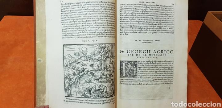 Libros: DE RE METALICA LIBRI XII,NUMERADO,999 EJEMPLARES. - Foto 6 - 168501256