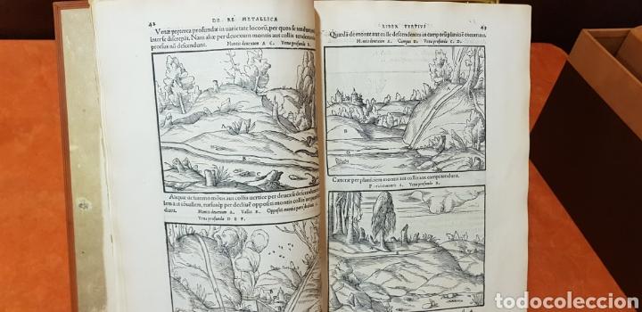 Libros: DE RE METALICA LIBRI XII,NUMERADO,999 EJEMPLARES. - Foto 7 - 168501256