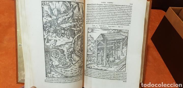 Libros: DE RE METALICA LIBRI XII,NUMERADO,999 EJEMPLARES. - Foto 10 - 168501256