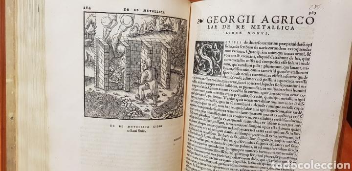 Libros: DE RE METALICA LIBRI XII,NUMERADO,999 EJEMPLARES. - Foto 12 - 168501256