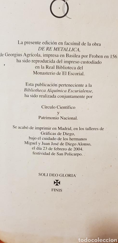 Libros: DE RE METALICA LIBRI XII,NUMERADO,999 EJEMPLARES. - Foto 14 - 168501256