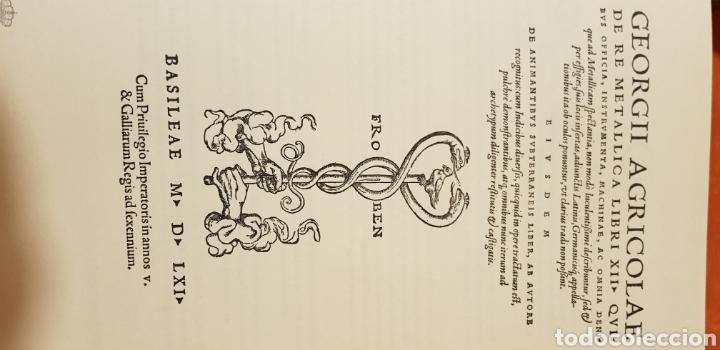Libros: DE RE METALICA LIBRI XII,NUMERADO,999 EJEMPLARES. - Foto 15 - 168501256