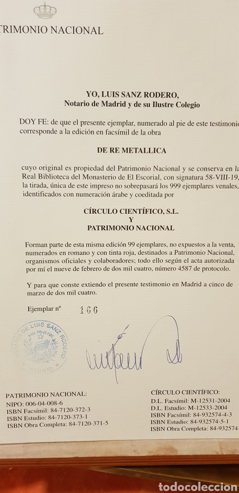 Libros: DE RE METALICA LIBRI XII,NUMERADO,999 EJEMPLARES. - Foto 20 - 168501256