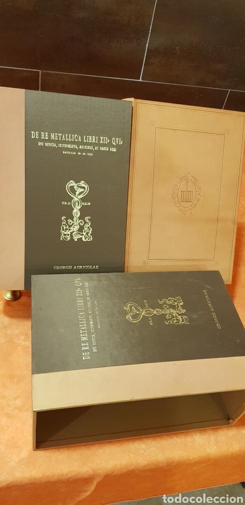 Libros: DE RE METALICA LIBRI XII,NUMERADO,999 EJEMPLARES. - Foto 4 - 168501256