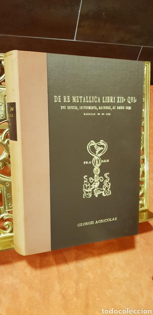 Libros: DE RE METALICA LIBRI XII,NUMERADO,999 EJEMPLARES. - Foto 3 - 168501256
