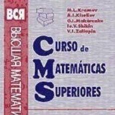 Libros: CURSO DE MATEMATICAS SUPERIORES. TOMO 8: ESTADÍSTICA MATEMÁTICA. TEORÍA DE JUEGOS. Lote 180182267