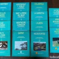 Libros: GUÍA DEL MEDI AMBIENT NATURAL DE LA GENERALITAT DE CATALUNYA 15 VOL PARCS NATURALS I ZONES D´INTERES. Lote 185067502