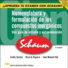 Libros: NOMENCLATURA Y FORMULACIÓN DE LOS COMPUESTOS INORGÁNICOS. Lote 194292773
