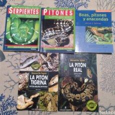 Libros: LIBROS SERPIENTES, PITONES, BOAS, ANACONDAS. Lote 194614796