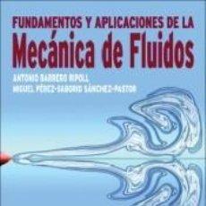 Libros: POD-FUNDAMENTOS Y APLICACIONES DE LA MEC@NICA DE FLUIDOS. Lote 195171360
