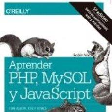 Libros: APRENDER PHP, MYSQL Y JAVASCRIPT. Lote 195284531