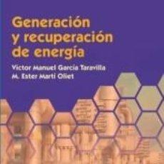 Libros: GENERACIÓN Y RECUPERACIÓN DE ENERGÍA. Lote 198910246