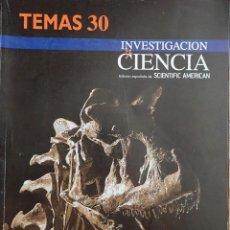 Libri: DINOSAURIOS. INVESTIGACIÓN Y CIENCIA. TEMAS-30. Lote 203970090