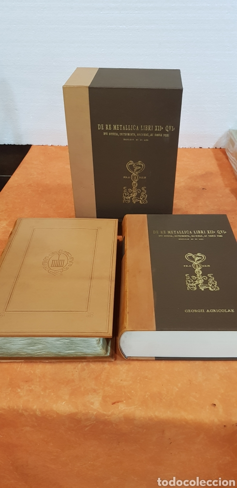 Libros: DE RE METALLICA LIBRI XII,NUMERADO,999 EJEMPLARES. - Foto 3 - 168501256