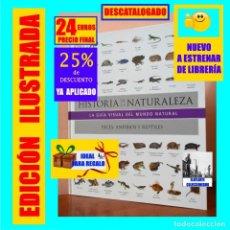 Libros: HISTORIA DE LA NATURALEZA - LA GUÍA VISUAL DEL MUNDO NATURAL - PECES, ANFIBIOS Y REPTILES - NUEVO. Lote 217821667