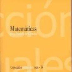Libros: MATEMÁTICAS PARA PRIMERO DE CIENCIAS. Lote 221238267