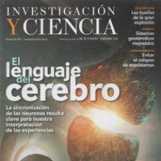 Libros: INVESTIGACIÓN Y CIENCIA. DICIEMBRE 2012. Lote 221882282