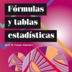 Libros: FÓRMULAS Y TABLAS ESTADÍSTICAS. Lote 222430813