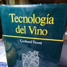 Libros: TECNOLOGÍA DEL VINO-GERHARD TROOST-EDICIÓN OMEGA 1985,BUEN ESTADO. Lote 222923718