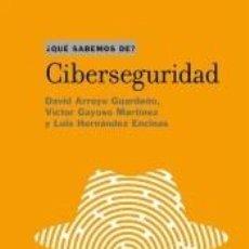 Libros: CIBERSEGURIDAD. Lote 227185265