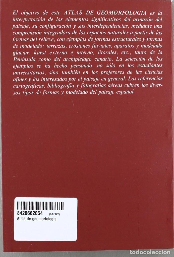 Libros: ÁTLAS DE GEOMORFOLOGÍA. A At.5. Alianza Átlas. - Foto 2 - 287126008