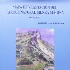 Livros: MAPA DE VEGETACIÓN DEL PARQUE NATURAL SIERRA MÁGINA. Lote 238566570