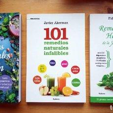 Libros: 3 LIBROS SOBRE REMEDIOS NATURALES. Lote 245073145