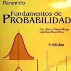 Libros: FUNDAMENTOS DE PROBABILIDAD 3ª EDICIÓN - UNED. Lote 245778510