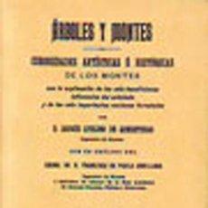 Libros: ÁRBOLES Y MONTES. CURIOSIDADES ARTÍSTICAS E HISTÓRICAS DE LOS MONTES. FACSÍMIL. Lote 255944855