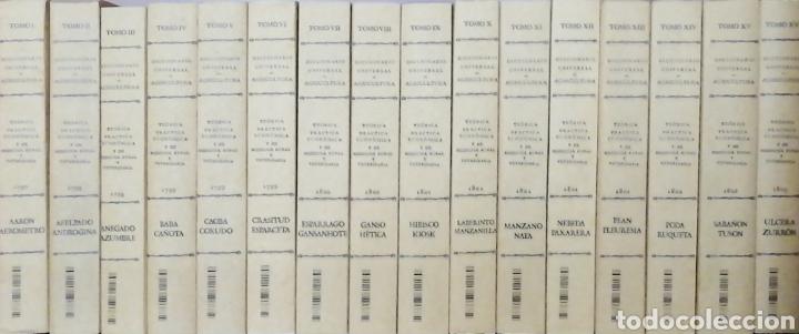 Libros: DICCIONARIO UNIVERSAL DE AGRICULTURA. 16 TOMOS. EDICIÓN FACSÍMIL - Foto 2 - 256027900