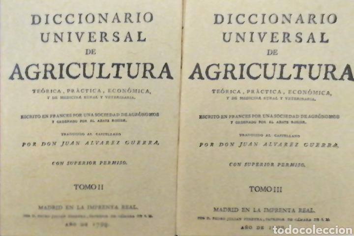 Libros: DICCIONARIO UNIVERSAL DE AGRICULTURA. 16 TOMOS. EDICIÓN FACSÍMIL - Foto 3 - 256027900