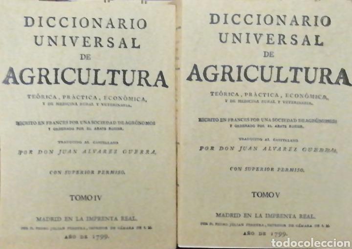 Libros: DICCIONARIO UNIVERSAL DE AGRICULTURA. 16 TOMOS. EDICIÓN FACSÍMIL - Foto 4 - 256027900