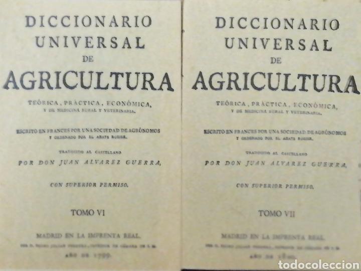 Libros: DICCIONARIO UNIVERSAL DE AGRICULTURA. 16 TOMOS. EDICIÓN FACSÍMIL - Foto 5 - 256027900